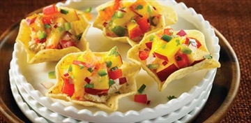 Cheese tostaditas with nectarine salsa an easy appetizer– Image 1
