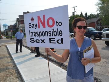 Parents protest sex-ed curriculum in Collingwood