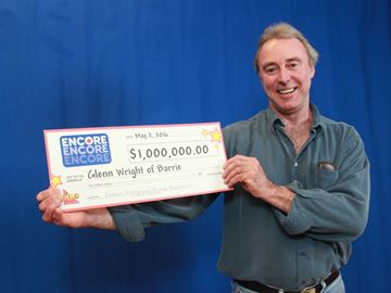 Barrie man wins $1M playing Encore