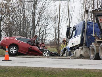 Serious crash on Erie Street