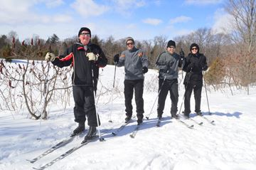 Cross country skiers enjoy an afternoon on the winter adventure trails at Taboo in Gravenhurst.