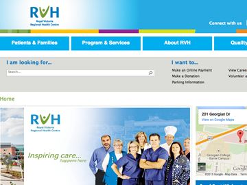 Barrie's RVH launches new website