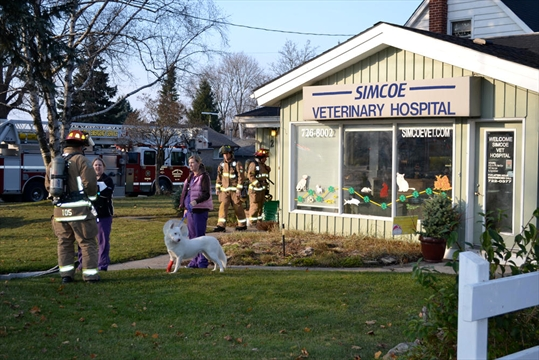 minor fire at vet hospital