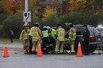 Two car crash blocks Trafalgar Rd