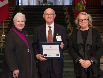 Oakville's Gordon receives Lietenant Governor's heritage award