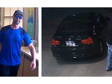 Durham police looking for BMW-driving gas and liquor thief