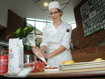Jessica Bailey, from Bear Creek Secondary School, made pastries during the baking competition.
