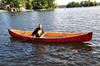 Jay in our new canoe