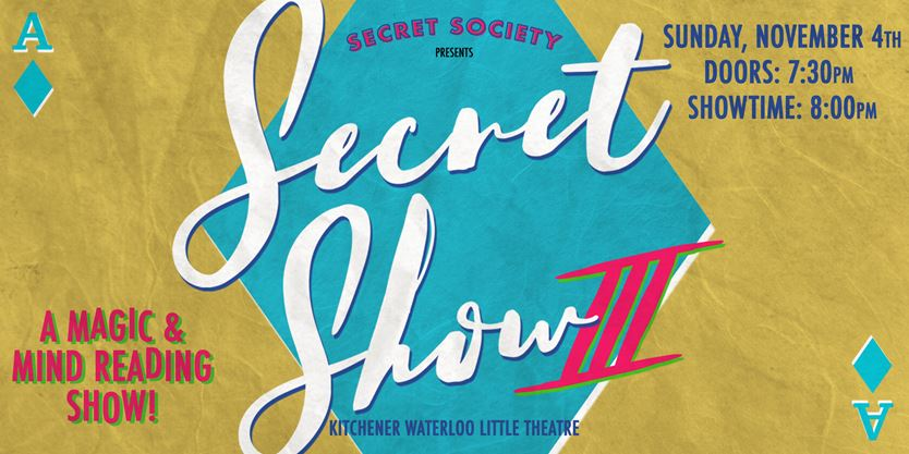 Secret Show 3: A Night of Magic, Mind Reading and Variety Acts on