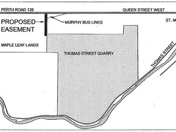Alternative access to Thomas Street Quarry