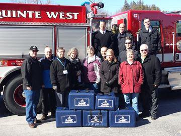 Firefighters deliver meals