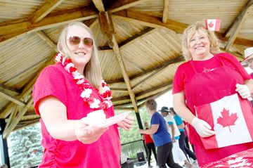 Arnprior shows its red and white pride