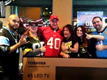 Barrie football fans win TV from St. Louis Bar & Grill