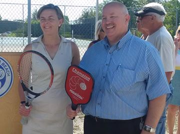 Wasaga pickleball, tennis players benefit from federal funding