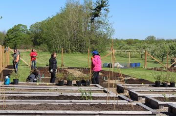 Volunteer gardeners have a work day on Sat., May 20 to prepare theFlamborough Baptist community garden for the upcoming season's seeding and planting. The garden, which is split in two sections will see one side grown to give to charity whie the other side is for gardeners who rent the plots.