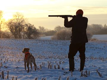 A hunter with his dog