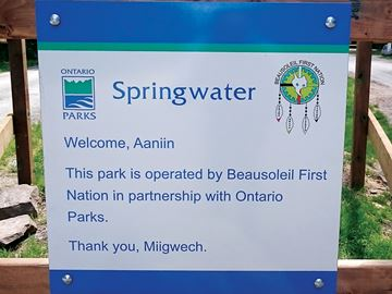 Province helping Beausoleil First Nation operate Springwater Park