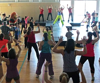 There was plenty of activity in Orléans on April 6 as the Ruddy Family YMCA hosted a zumba fundraising event for the Y Strong Kids Campaign. The event raised money to cover or subsidize the cost of children participating in programs offered at the YMCA-YWCA. Participants were led by cheerleaders from the Ottawas RedBlacks.