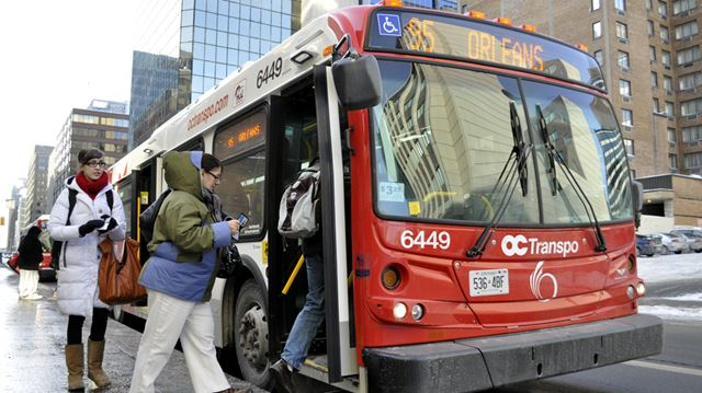 OC Transpo buses to announce stops externally