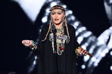 Madonna presents the award for Video of the Year onstage during the 2018 MTV Video Music Awards at Radio City Music Hall on August 20, 2018 in New York City