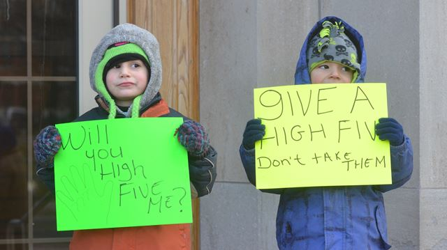 High Fives students