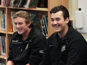 Hornets players share advice with Beeton students