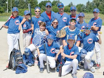 Cubs qualify for ontario baseball association championships for Aaina salon waterloo