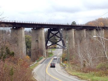 Two dead after fall from bridge