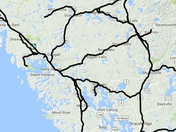 Parry Sound road conditions, 6:54 a.m. Feb 24