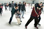 Enjoying family skate