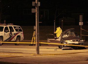 Two-vehicle crash