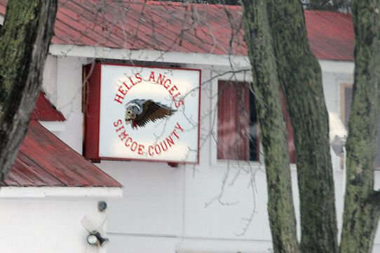 Hells Angels advertising clubhouse | Simcoe com