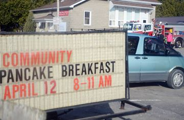 Pancake breakfast at the North Union Community Centre, a fundraiser by the Mount Albert firefighters.