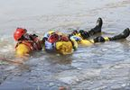 Oakville firefighters hone their ice-water rescue skills