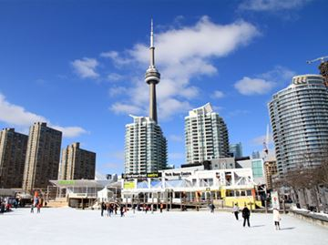 Harbourfront Centre's Natrel Rink in Toronto