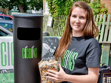 Quartier Vanier launches new cigarette collection bin project