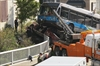 truck collides with bus