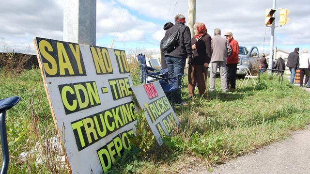 bolton residents protest canadian tire centre mississaugacom