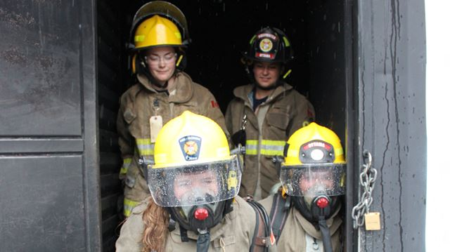 Young women invited to learn firefighting ropes from the pros