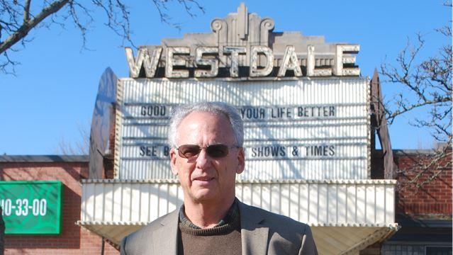 Fred Fuchs outside Westdale cinema