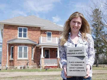 Banting Homestead in Alliston launches paver campaign