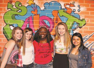 Hip hop singer Saidat inspires high school students