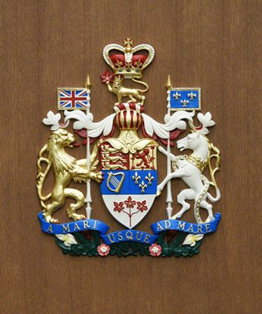 Coat of arms at the courthouse