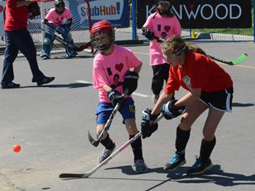The streets around Victoria Park were filled with 36 road hockey pads this weekend (May 25 and 26) for Hockey Night In Canada's Play On! 4-on-4 tournaments.