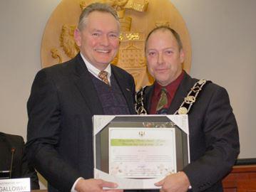 Collard recognized for service