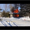 Collingwood firefighters at Glenlake Boulevard blaze