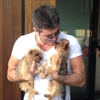 Simon Cowell bathes with his dogs-Image1