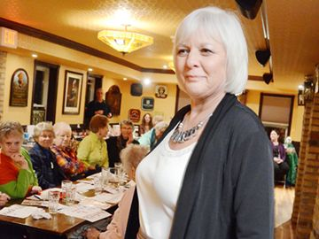 The second annual Ladies' Night Out in support of Hospice Georgina was held March 6 at the Lake Simcoe Arms in Jackson's Point. More than $1,200 was raised during an evening of food, fun and fashions. Here is Nancy Koster modelling in the fashion show.