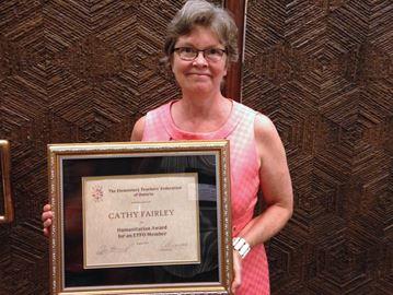 Burlington resident receives ETFO Humanitarian Award