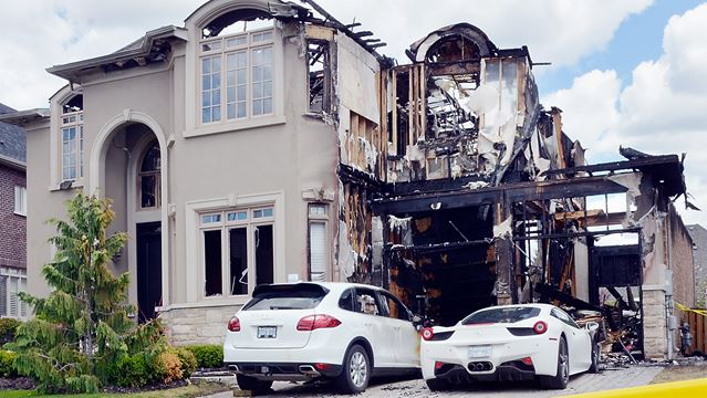 Luxury House And Car fire damage at kleinburg home estimated at $5m; several luxury